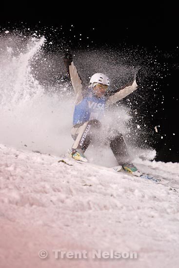 Trent Nelson  |  The Salt Lake Tribune.Lydia Lassila (Australia) makes a soft landing, earning the gold medal, Aerials competition at the FIS Freestyle World Cup at Deer Valley, Friday, January 15, 2010.