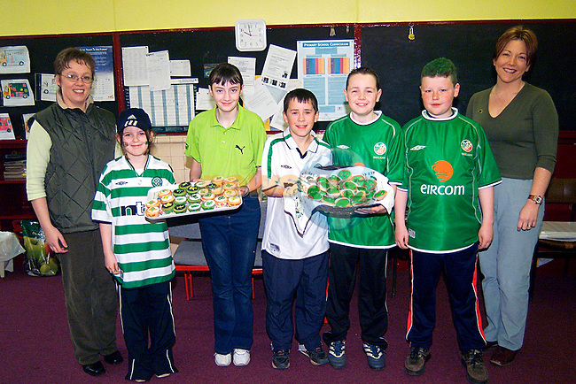 Fiona Kelly,Roseanna Toner,Naomi Cosgrove, Kevin Leech,Stephen Behan,Niall Shelley and Linda Cruise in Mell School For St Patrack,s Day...Pic Tony Campbell/Newsfile