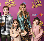 James Wilkie Broderick, Sarah Jessica Parker, Marion Loretta Broderick, Tabitha Broderick attend the Broadway Opening Performance of 'Charlie and the Chocolate Factory' at the Lunt-Fontanne Theatre on April 23, 2017 in New York City.