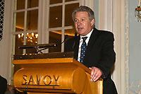 General secretary of the BBBofC Robert Smith speaks during the Boxing Writers Club Annual Dinner at the Savoy Hotel on 7th October 2019