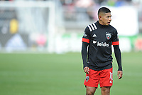 WASHINTON, DC - FEBRUARY 29: Washington, D.C. - February 29, 2020: Edison Flores #10 of D.C. United during a game between D.C. United and Colorado Rapids. The Colorado Rapids defeated D.C. United 2-1 during their Major League Soccer (MLS)  match at Audi Field during a game between Colorado Rapids and D.C. United at Audi FIeld on February 29, 2020 in Washinton, DC.