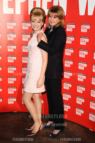 """Charlotte Blackledge, Lord Andrew Lloyd Webber and Mandy Rice Davies at the photocall to launch Lloyd Webber's new musical """"Stephen Ward"""" at The Box, Soho, London.  30/09/2013 Picture by: Steve Vas / Featureflash"""