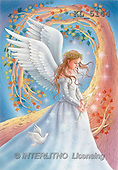 Interlitho, Lorella, FANTASY, paintings, angel, calla, dove, KL, KL5144,#fantasy# illustrations, pinturas