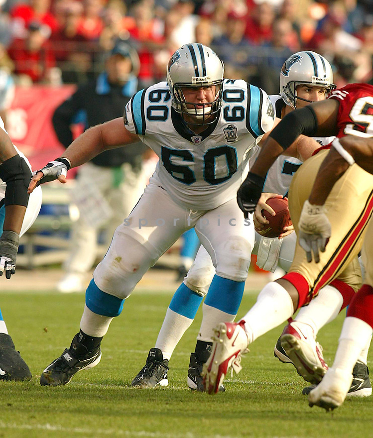 Jeff Mitchell during the Carloina Panthers v. San Francisco 49ers game on November 14, 2004...Panthers win 37-27..Rob Holt / SportPics