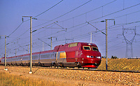 Thalys, high speed train running between Paris, Brussels and Amsterdam.   France.