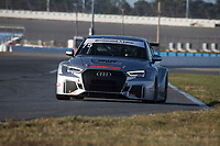 IMSA Continental Tire SportsCar Challenge<br /> December Test<br /> Daytona International Speedway<br /> Daytona Beach, FL USA<br /> Wednesday, 06 December, 2017<br /> 79, Audi, Audi RS3 LMS TCR, TCR, Andrew Davis<br /> World Copyright: Brian Cleary<br /> LAT Images