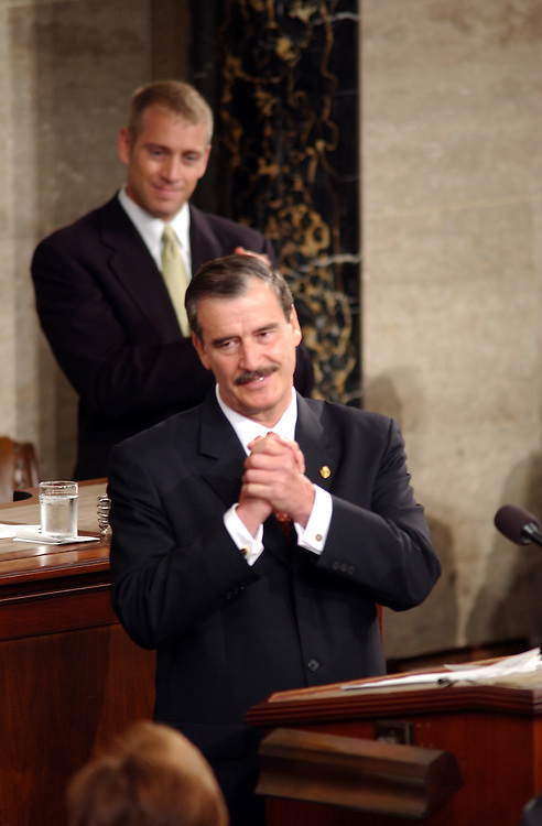 6fox090601 --  Vicente Fox, President of the United Mexican States before his speech during the Joint Session of Congress.
