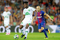 FC Barcelona's Andres Iniesta (r) and Chapecoense's Moises during Joan Gamper Trophy. August 7,2017. (ALTERPHOTOS/Acero) /NortePhoto.com