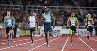 MERRITT Lashawn runs the last few meters in the 400m run at the IAAF Diamond League meeting in Stockholm.