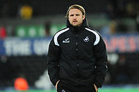 Bjorn Hamberg, assistant coach for Swansea city during the Sky Bet Championship match between Swansea City and Birmingham City at the Liberty Stadium in Swansea, Wales, UK. Tuesday 29 January 2019