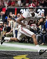 Atlanta, GA - January 8, 2018: The University of Georgia Bulldogs play the University of Alabama Crimson Tide for the National Championship at Mercedes-Benz Stadium.  Final score Alabama 26, Georgia 23 in overtime.