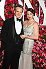 Jamie Parker and and Deborah Crowe arrive at The 72nd Annual Tony Awards on June 10, 2018 at Radio City Music Hall in New York, New York, USA. <br /> <br /> photo by Robin Platzer/Twin Images<br />  <br /> phone number 212-935-0770