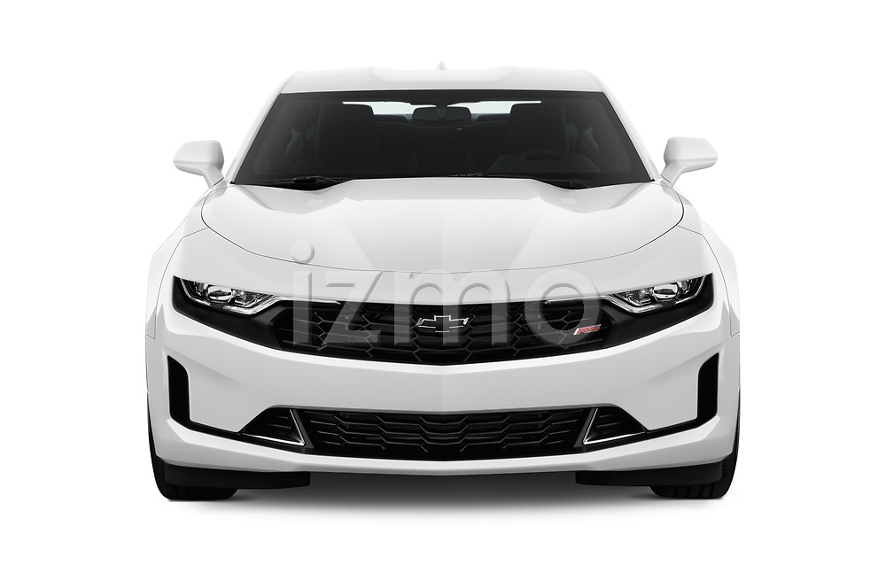 Car photography straight front view of a 2019 Chevrolet Camaro 1LT 2 Door Coupe