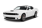 2017 Dodge Challenger SRT 3 Door Coupe angular front stock photos of front three quarter view