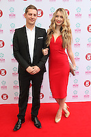 James Sutton and girlfriend Kit Williams arriving at the Tesco Mum Of The Year Awards 2014, at The Savoy, London. 23/02/2014 Picture by: Alexandra Glen / Featureflash
