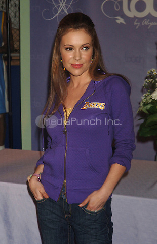 Alyssa Milano at an in store appearance to promote her 'Touch' Collection at the NBA Store in New York City. April 15, 2009 Credit: Dennis Van Tine/MediaPunch