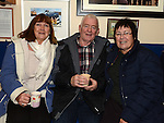 Dolly Flanagan, Tommy and Joan Mulroy pictured at the Mulled Wine fundraiser in Clogherhead Lifeboat Station. Photo:Colin Bell/pressphotos.ie