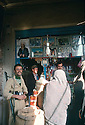 Iran 1979.In the bazar of Mahabad, a little shop and customers