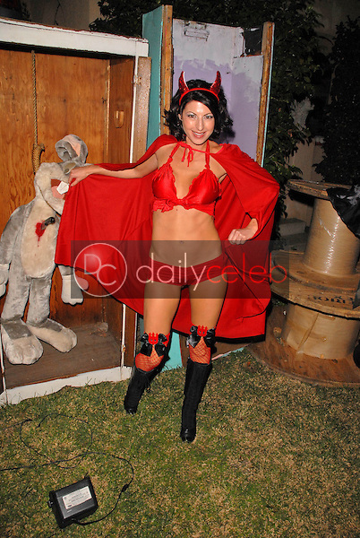 Jamie Carson<br /> preparing for the annual Halloween Bash at the Playboy Mansion, Private Location, Los Angeles, CA. 10-24-09<br /> David Edwards/DailyCeleb.com 818-249-4998