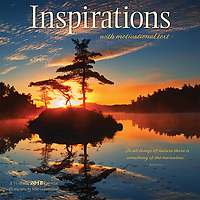 PRODUCT: Calendar<br /> TITLE: Inspirations Wall 2018<br /> CLIENT: Wyman Publications / Browntrout Canada