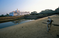 Maya Devi pool and Temple in Lumbini Nepal, marks the birth place of Siddhartha Gautam Buddha.  In 1976, the Nepalese Government and UNESCO designated Lumbini as a world heritage site..-The full text reportage is available on request in Word format