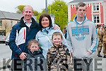 Listowel Military Tattoo: Pictured at the Listowel Military Tattoo in Listwel on Saturday last were Niall Whyte, Emily, Denis Moriarity and Sharon & Michael Moriarity in front.