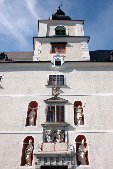 Main Entrance of the Esterhazy castle (Esterházy Kastélz ) Burg Forchstein  ( Fraknó Vára ) , Eisenstadt (Kismarton), Austria