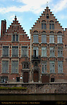 Neo-Baroque Houses on Spiegelrei, 18th century, Bruges, Brugge, Belgium