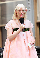NEW YORK, NY-July 16:  Tida Swinton shooting on location for Netflix & Plan B Enterainment  film Okja in New York. NY July 16, 2016. Credit:RW/MediaPunch