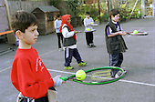 After-school sports class at Christchurch Primary School, Euston, run as part of the Headstart Programme.  The programme is one of several initiatives aimed at regenerating the West Euston area.