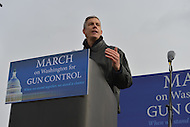 January 26, 2013  (Washington, DC)  Secretary of Education Arne Duncan speaks during a gun control rally on the grounds of the Washington Monument. (Photo by Don Baxter/Media Images International)