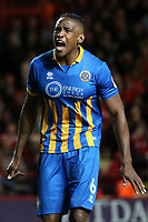 Omar Beckles of Shrewsbury Town during Charlton Athletic vs Shrewsbury Town, Sky Bet EFL League 1 Play-Off Football at The Valley on 10th May 2018