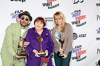LOS ANGELES - MAR 3:  JR, Agnes Varda, Rosalie Varda_ at the 2018 Film Independent Spirit Awards at the Beach on March 3, 2018 in Santa Monica, CA