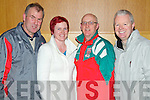 Pictured at the evening with John Aldridge in Ballyroe on Thursday night, from left: John Horgan, Marie Carty, Sean Brosnan and Declan Carty, all from Listowel.
