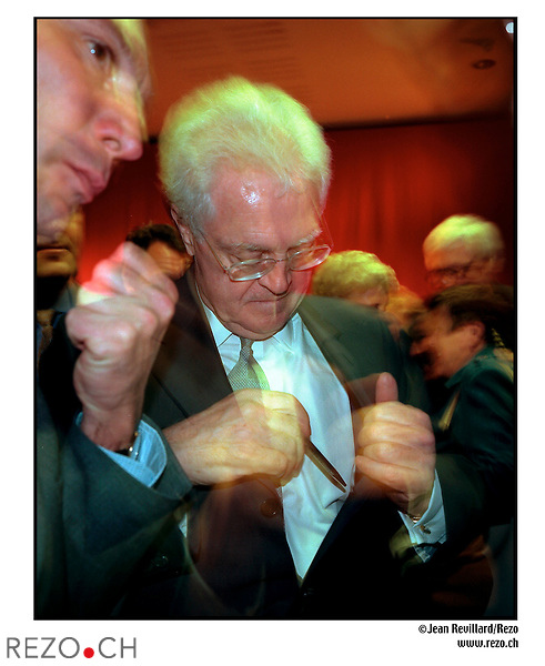 JR00505/ Lionel Jospin en campagne à Mulhouse..Mhulouse avril 2002