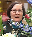 WATERBURY CT. - 17 January 2020-011720SV06-Virginia O'Rourke Cookson works in her flower shop, O'Rourke & Birch Florist Inc., in Waterbury Friday. Cookson will be honored with an award at the Harold Webster Smith awards next week.<br /> Steven Valenti Republican-American