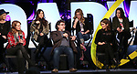 Kate Rockwell, Nell Benjamin, Ashley Parker, Jeff Richmond, Taylor Louderman, Tina Fey and Erika Henningsen on stage during Broadwaycon at New York Hilton Midtown on January 11, 2019 in New York City.