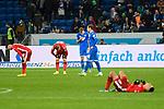 Die Spieler nach dem Abpfiff beim Spiel in der Fussball Bundesliga, TSG 1899 Hoffenheim - Fortuna Duesseldorf.<br /> <br /> Foto © PIX-Sportfotos *** Foto ist honorarpflichtig! *** Auf Anfrage in hoeherer Qualitaet/Aufloesung. Belegexemplar erbeten. Veroeffentlichung ausschliesslich fuer journalistisch-publizistische Zwecke. For editorial use only. DFL regulations prohibit any use of photographs as image sequences and/or quasi-video.