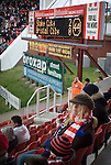 Stoke City 2 Bristol City 1, 19th April 2008. Unhappy Bristol City fans.Photo by Paul ThompsonStoke City 2 Bristol City 1, 19/04/2008. Britannia Stadium, Championship. Photo by Paul Thompson.