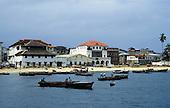 Zanzibar, Tanzania. Waterfront with boats.