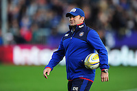 Bath Rugby first team coach Darren Edwards looks on during the pre-match warm-up. Aviva Premiership match, between Exeter Chiefs and Bath Rugby on October 30, 2016 at Sandy Park in Exeter, England. Photo by: Patrick Khachfe / Onside Images