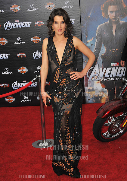 "Cobie Smulders at the world premiere of her new movie ""Marvel's The Avengers"" at the El Capitan Theatre, Hollywood..April 11, 2012  Los Angeles, CA.Picture: Paul Smith / Featureflash"