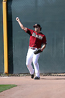 Matt Tuiasosopo of the Arizona Diamondbacks participates in spring training workouts at Salt River Fields on February 12, 2014 in Scottsdale, Arizona (Bill Mitchell)