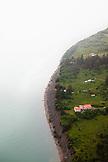 USA, Alaska, Homer, an aerial view of the Homer coastline, Kachemak Bay