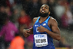 Ameer WEBB (USA) in the mens 200m semi-final. IAAF world athletics championships. London Olympic stadium. Queen Elizabeth Olympic park. Stratford. London. UK. 09/08/2017. ~ MANDATORY CREDIT Garry Bowden/SIPPA - NO UNAUTHORISED USE - +44 7837 394578