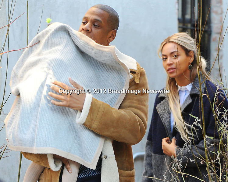Pictured: Beyonce Knowles, Jay Z, Blue Ivy<br /> Mandatory Credit &copy; Jayme Oak/Broadimage<br /> Jay Z and wife Beyonce Knowles take their precious cargo baby Blue Ivy to lunch in a restaurant in Brooklyn in New York City<br /> <br /> 1/20/14, New York, New York, United States of America<br /> <br /> Broadimage Newswire<br /> Los Angeles 1+  (310) 301-1027<br /> New York      1+  (646) 827-9134<br /> sales@broadimage.com<br /> http://www.broadimage.com<br /> <br /> <br /> Pictured: Beyonce Knowles, Jay Z, Blue Ivy<br /> Mandatory Credit &copy; Jayme Oak/Broadimage<br /> Jay Z and wife Beyonce Knowles take their precious cargo baby Blue Ivy to lunch in a restaurant in Brooklyn in New York City<br /> <br /> 1/20/14, New York, New York, United States of America<br /> Reference: 011914_JKNY_BDG_009<br /> <br /> Broadimage Newswire<br /> Los Angeles 1+  (310) 301-1027<br /> New York      1+  (646) 827-9134<br /> sales@broadimage.com<br /> http://www.broadimage.com