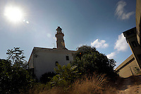Isola di Pianosa.Pianosa Island.Pianosa. Il borgo.Village.Il faro. The lighthouse..