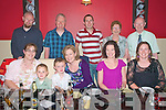 Big 4-OH: Sharon Carty, centre front, Listowel, celabrating her 40th birthday with family & friends at Fitzgeralds Restaurant in Listowel recently, Front: Nicola carty. Tommy & Jack Carty, Sharon Carty, Claire Carty & Marie Carty. Back: Brian Carty, Declan Carty, Kieran O'mahony, Breda & George Carty.
