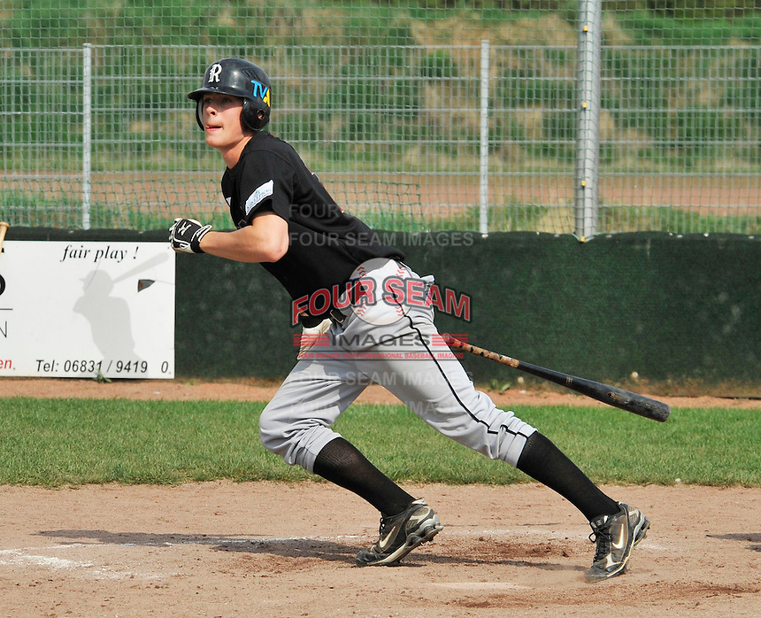 April 11, 2009:  Minnesota Twins International Signing Max Kepler-Rozycki in action while playing amateur baseball in Germany.  Kepler signed to a $800,000 bonus with the Twins, which is a record for an amateur outside the U.S. and Latin America.  Photo By Gregor Eisenhuth/Four Seam Images