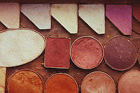 A Used Tray of Makeup